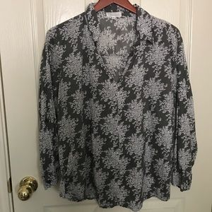 Eden and Olivia patterned blouse